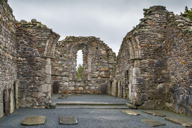 Cattedrale di Glendalough, Irlanda fotografie stock