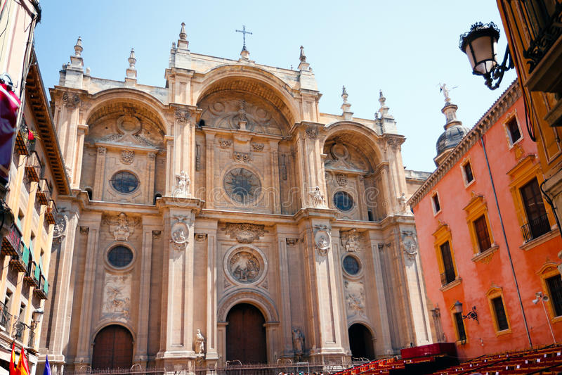 Cattedrale di Granada fotografie stock libere da diritti