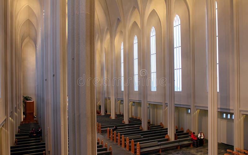 Cattedrale di Hallgrimskirkja a Reykjavik fotografia stock