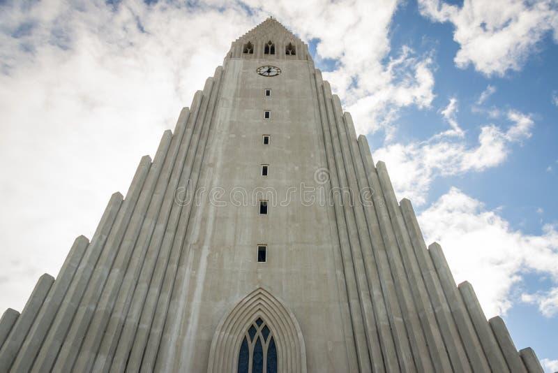 Cattedrale di Hallgrimskirkja a Reykjavik immagine stock