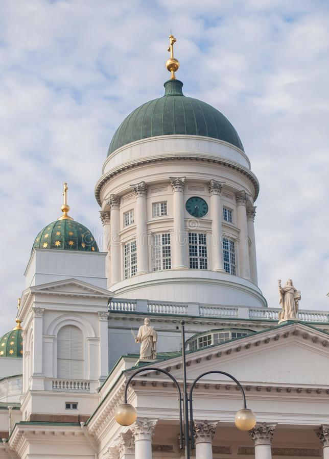 Cattedrale di Helsinki, Finlandia fotografia stock libera da diritti