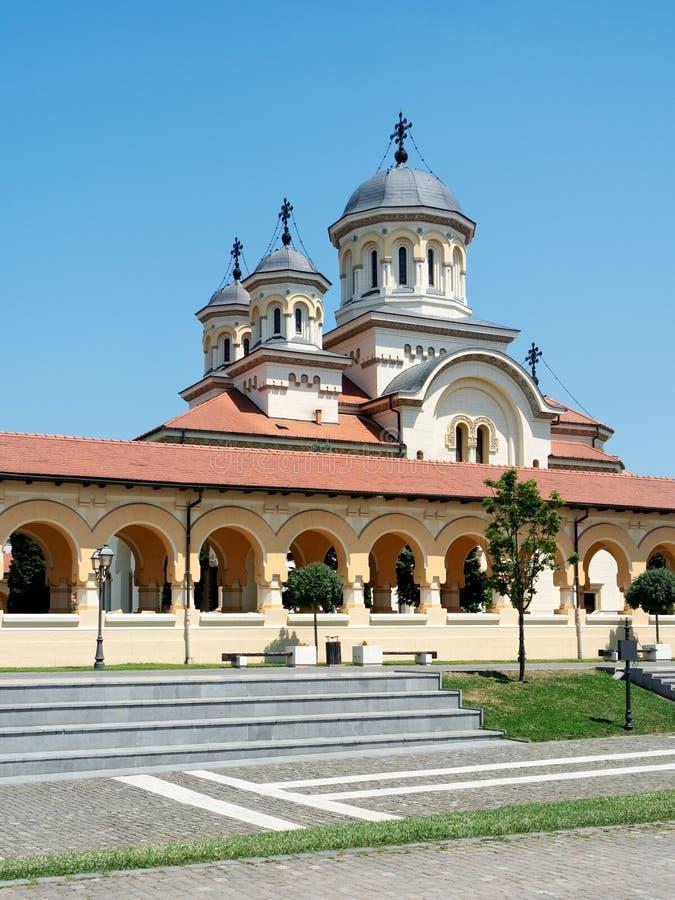 Cattedrale di incoronazione e cittadella di Alba Carolina, Alba Iulia, Roma fotografia stock libera da diritti