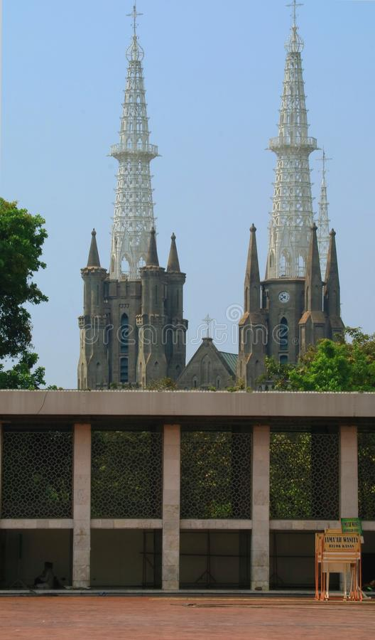 Cattedrale di Jakarta immagine stock libera da diritti