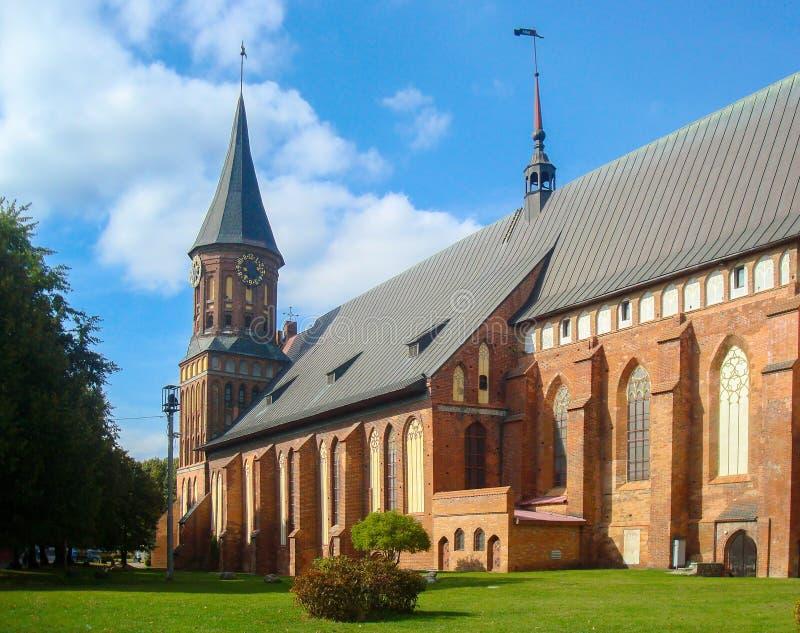 Cattedrale di Kaliningrad sull'isola di Kant fotografie stock libere da diritti
