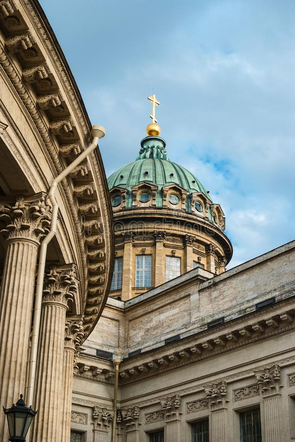 Cattedrale di Kazan a St Petersburg fotografia stock libera da diritti