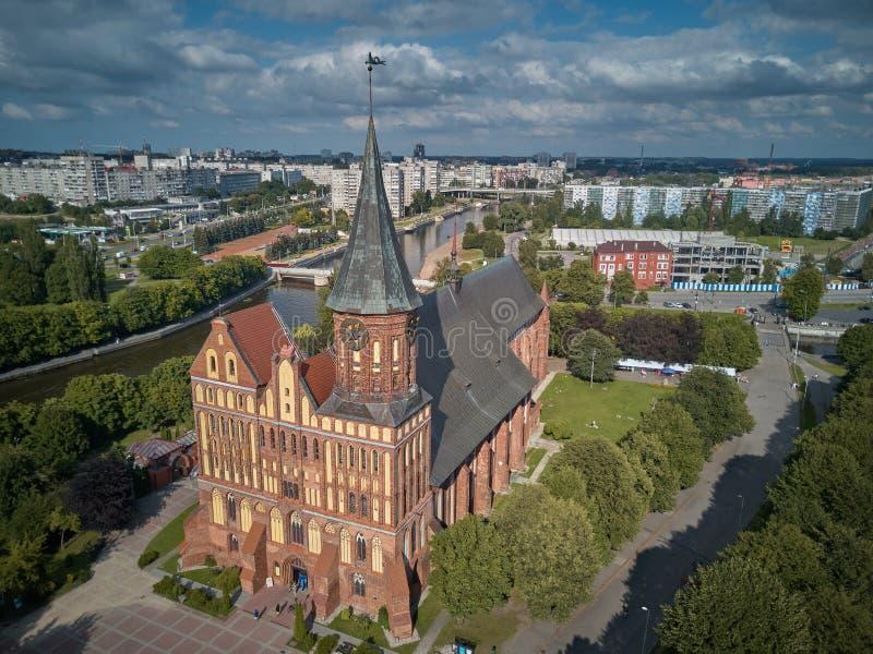 Cattedrale di Konigsberg Kaliningrad, precedentemente Koenigsberg, Russia immagini stock libere da diritti