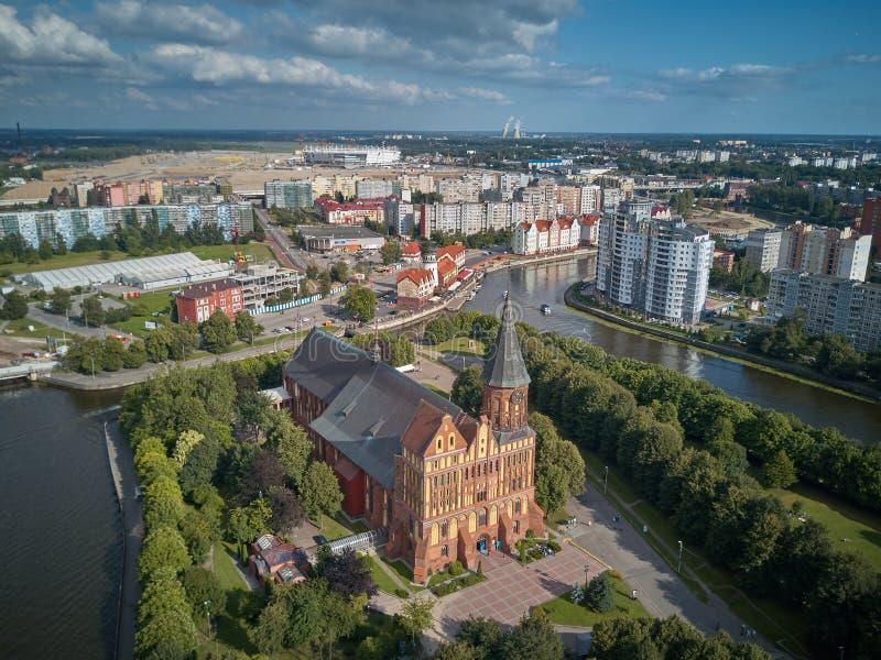 Cattedrale di Konigsberg Kaliningrad, precedentemente Koenigsberg, Russia immagine stock libera da diritti