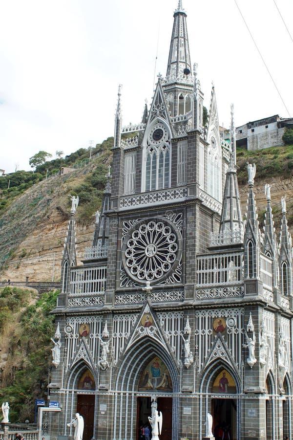Cattedrale di Las Lajas fotografia stock libera da diritti