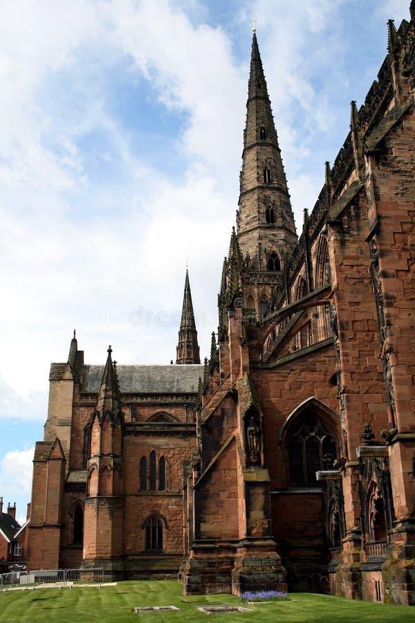 Cattedrale di Lichfield fotografia stock