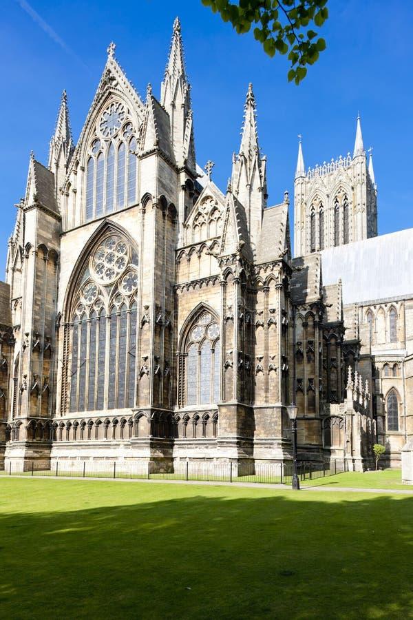 cattedrale di Lincoln, East Midlands, Inghilterra immagini stock libere da diritti