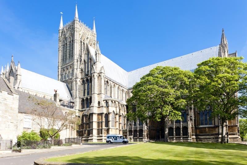 cattedrale di Lincoln, East Midlands, Inghilterra immagini stock