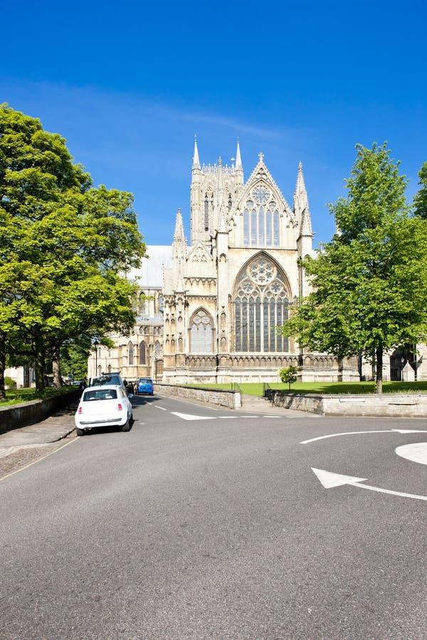cattedrale di Lincoln, East Midlands, Inghilterra fotografia stock