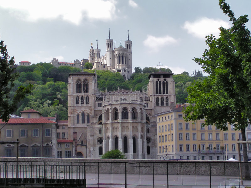 Cattedrale di Lione fotografia stock