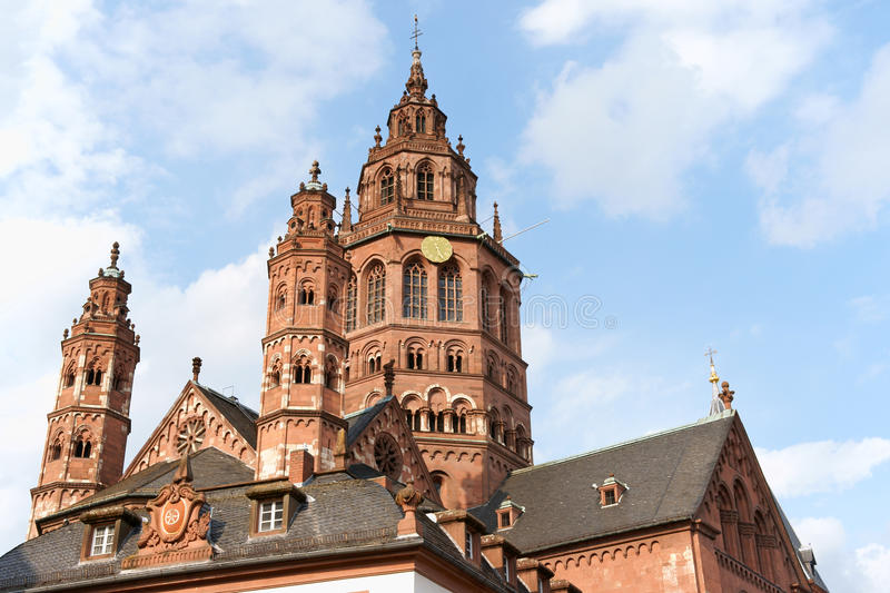 Cattedrale di Mainz in Germania fotografia stock