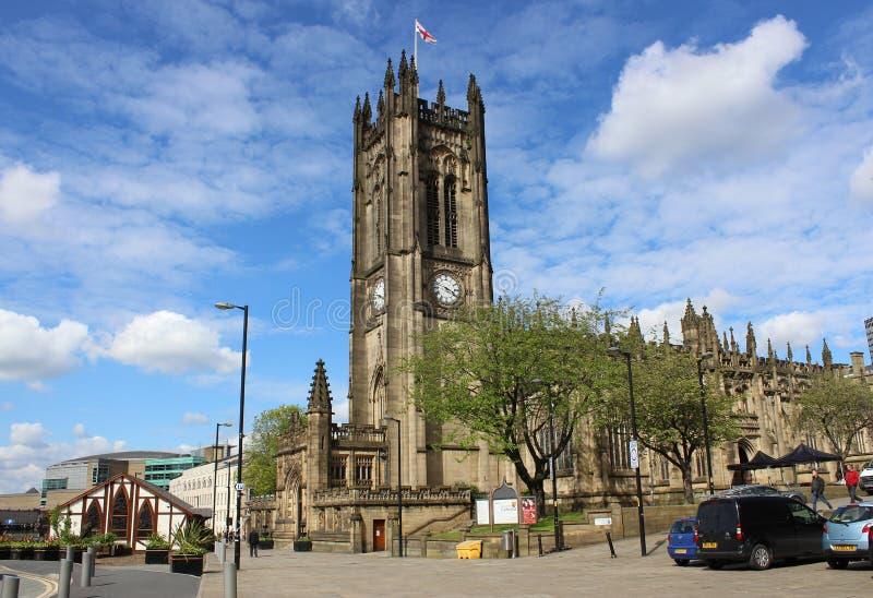 Cattedrale di Manchester, Manchester, Inghilterra immagini stock libere da diritti