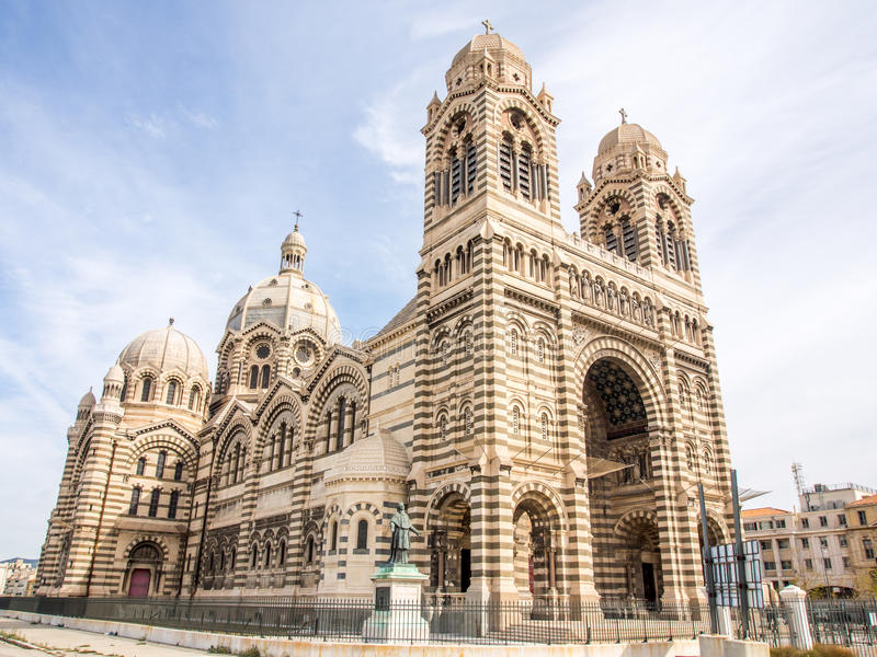 Cattedrale di Marsiglia fotografia stock libera da diritti