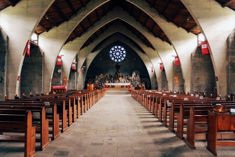 Cattedrale di Mary's del san nella provincia della montagna di Sagada fotografie stock