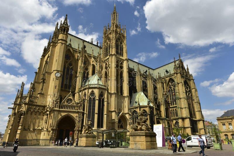Cattedrale di Metz, Lorena, Francia fotografie stock libere da diritti