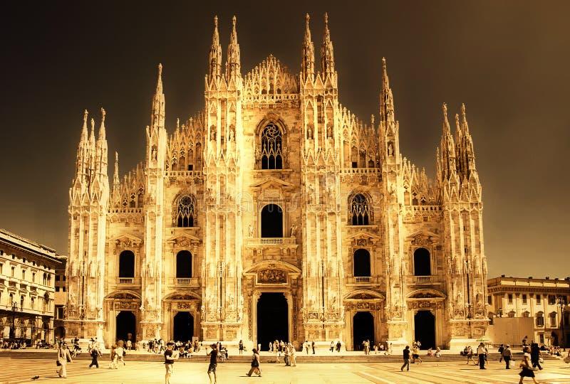 Cattedrale di Milano immagini stock