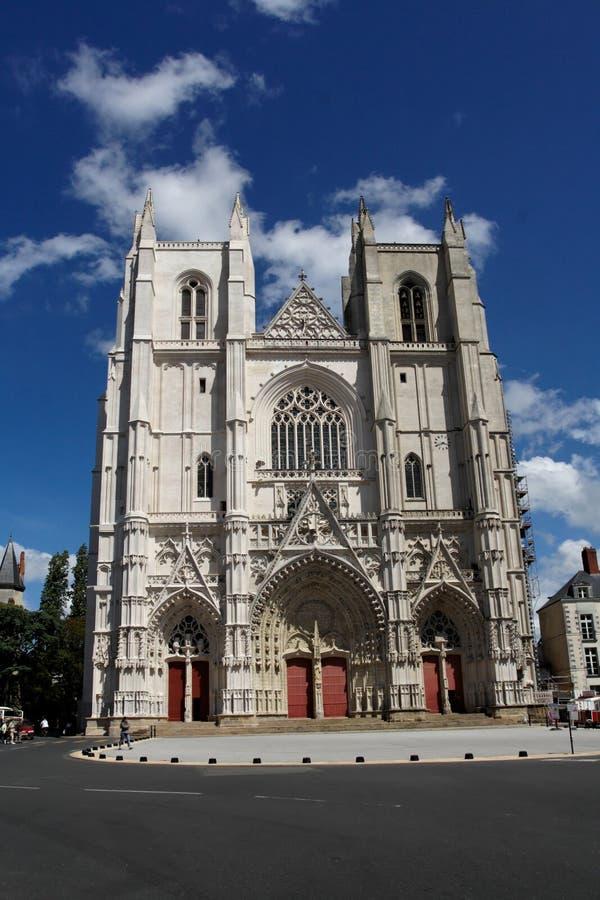Cattedrale di Nantes fotografia stock