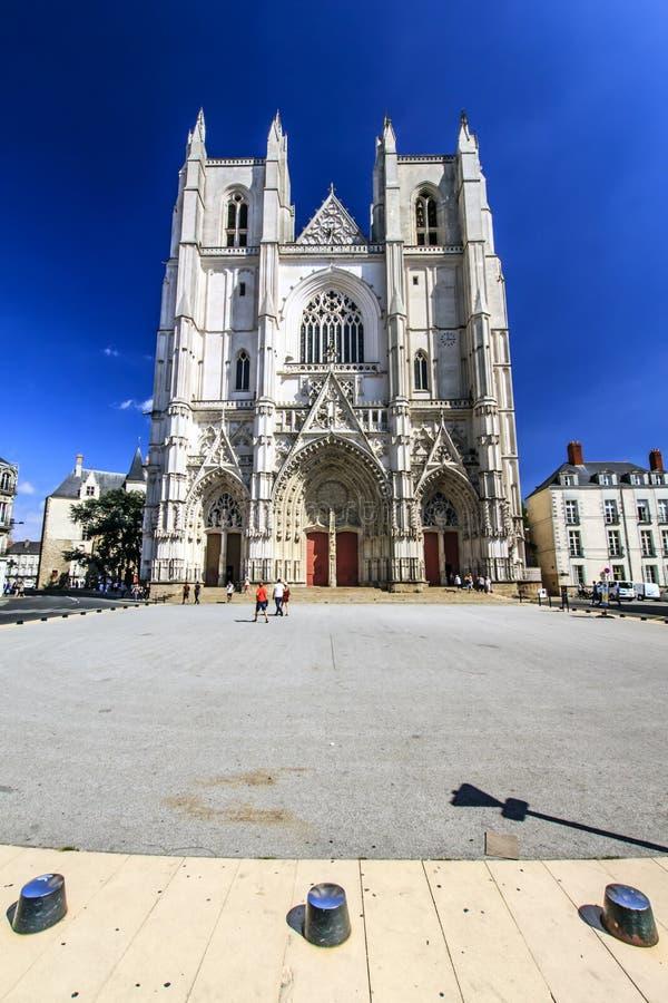 Cattedrale di Nantes, la Loira-Atlantique, Francia fotografie stock