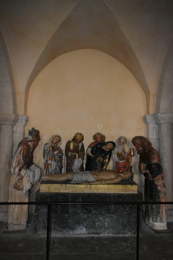 Cattedrale di Nevers - Nevers - Francia fotografia stock libera da diritti