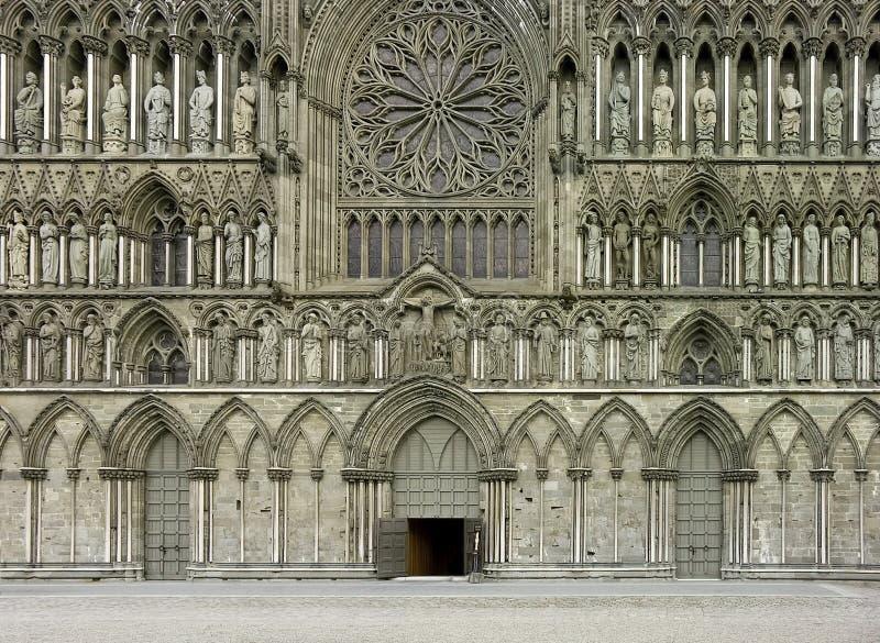 Cattedrale di Nidaros fotografia stock libera da diritti