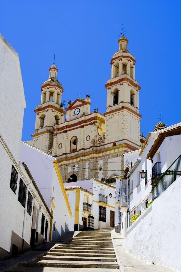 Cattedrale di Olvera fotografie stock