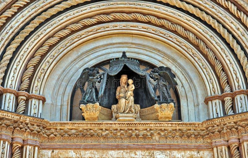 Cattedrale di Orvieto fotografia stock libera da diritti