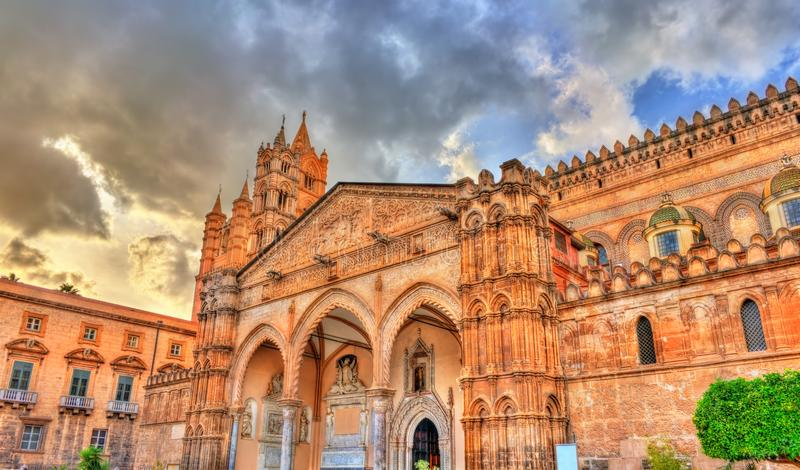 Cattedrale di Palermo, un sito del patrimonio mondiale dell'Unesco in Sicilia, Italia fotografia stock libera da diritti