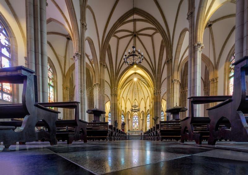 Cattedrale di Petropolis di St Peter dell'interno di Alcantara - Petropolis, Rio de Janeiro, Brasile immagine stock