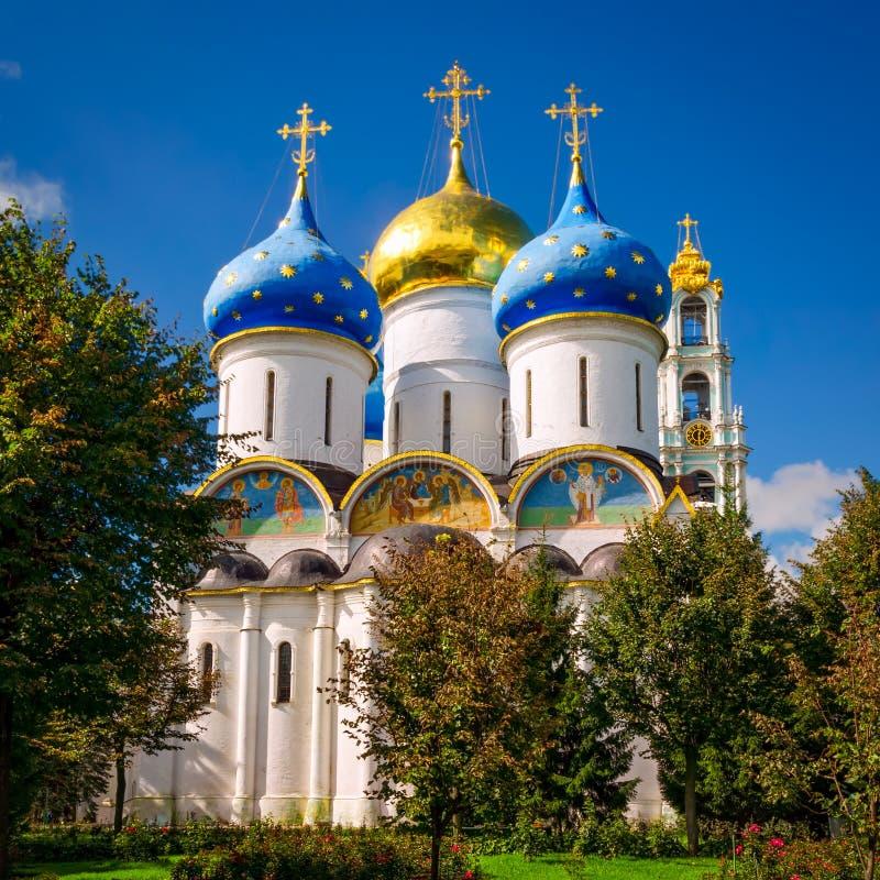 Cattedrale di presupposto in Segiyev Posad, Russia immagini stock