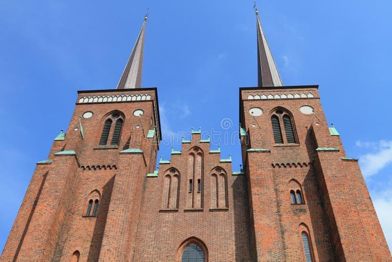 Cattedrale di Roskilde, Danimarca fotografie stock libere da diritti