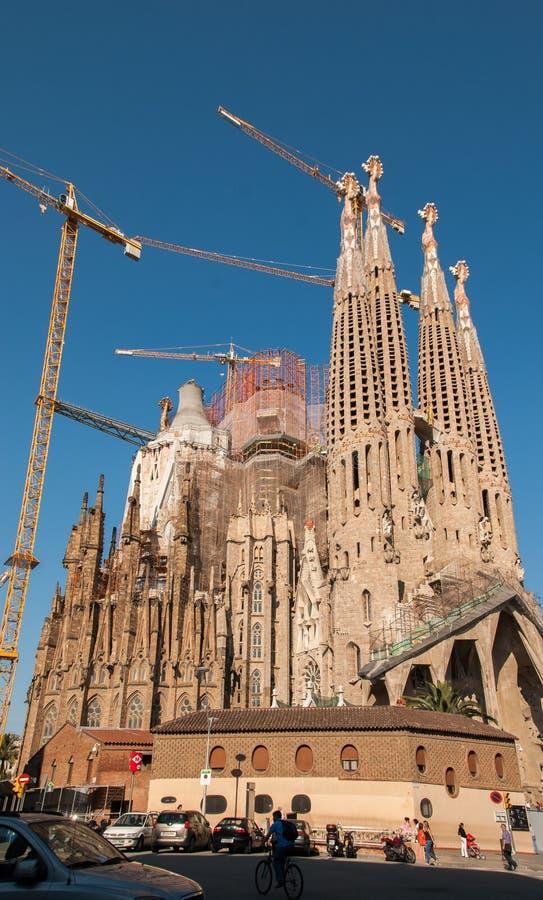 Cattedrale di Sagrada Familia della La a Barcellona immagine stock