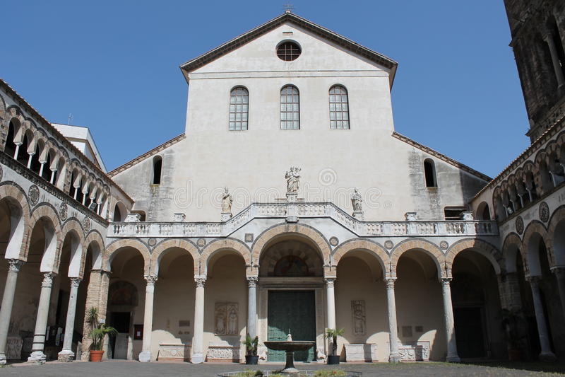 Cattedrale di Salerno fotografia stock libera da diritti