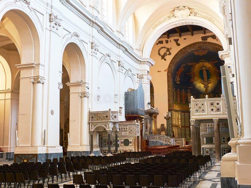 Cattedrale di Salerno Cathedral Campanie, Italie image libre de droits