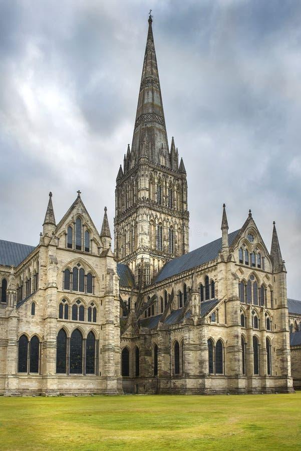 Cattedrale di Salisbury, cattedrale anglicana a Salisbury, Inghilterra immagini stock