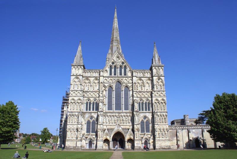 Cattedrale di Salisbury a Salisbury, Wiltshire, Inghilterra, Europa immagine stock libera da diritti