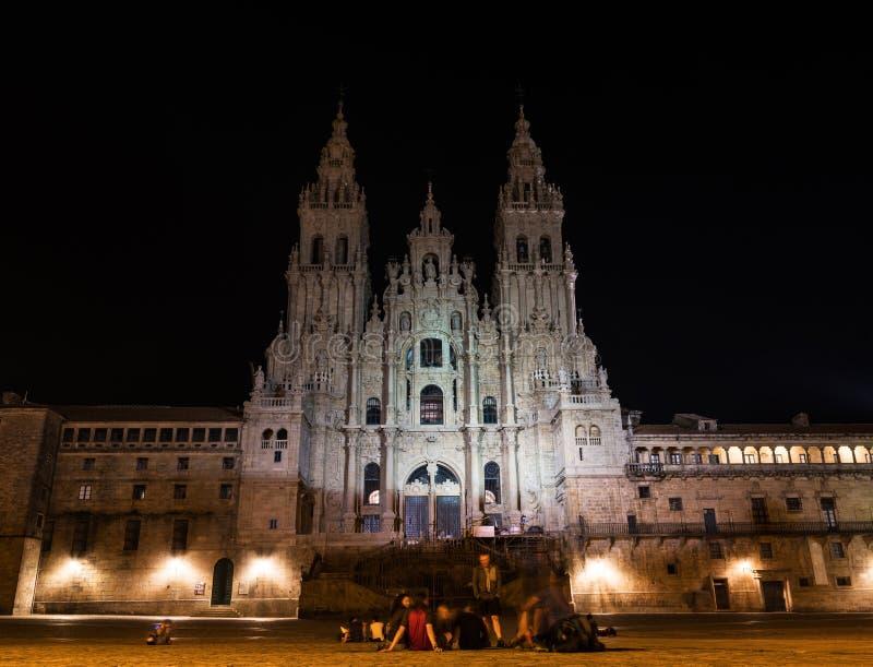 Cattedrale di San Giacomo a Santiago de Compostela immagine stock