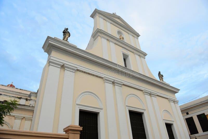 Cattedrale di San Juan Bautista, San Juan, Porto Rico fotografie stock libere da diritti
