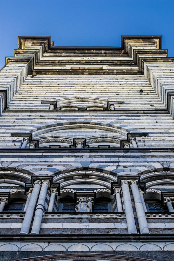 Cattedrale di San Lorenzo, Genoa. This is Cattedrale di San Lorenzo or the Cathedral of Saint Lorenzo located in Genoa, Italy stock photos