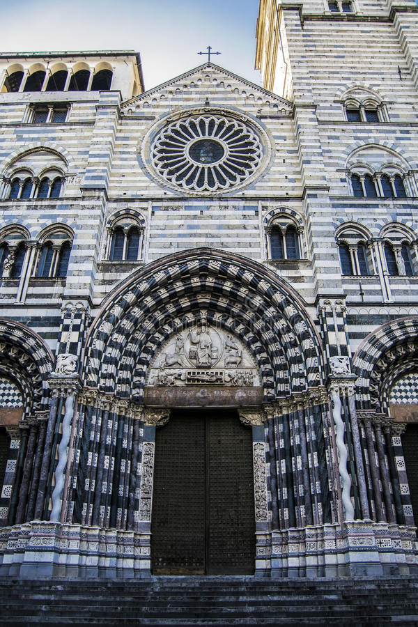 Cattedrale di San Lorenzo, Genoa. This is Cattedrale di San Lorenzo or the Cathedral of Saint Lorenzo located in Genoa, Italy royalty free stock photos