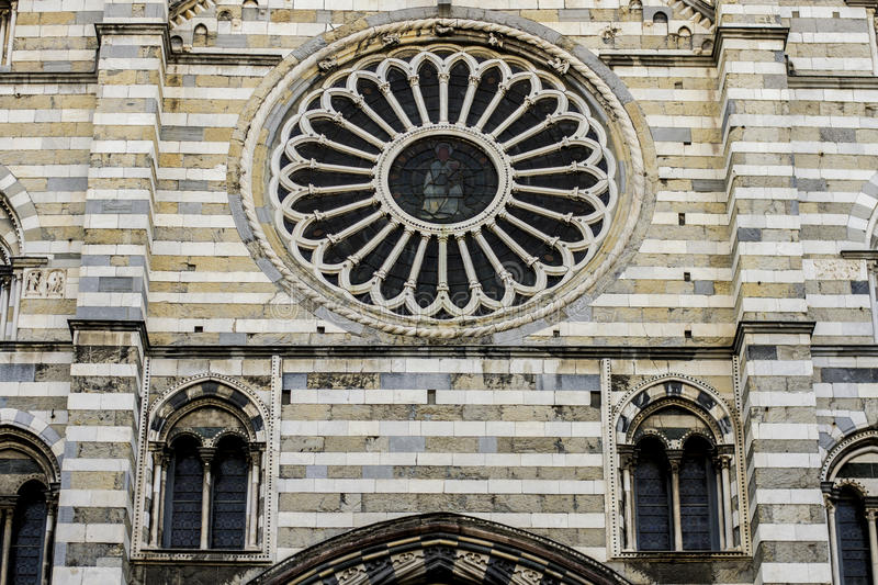 Cattedrale di San Lorenzo, Genoa. This is Cattedrale di San Lorenzo or the Cathedral of Saint Lorenzo located in Genoa, Italy stock images