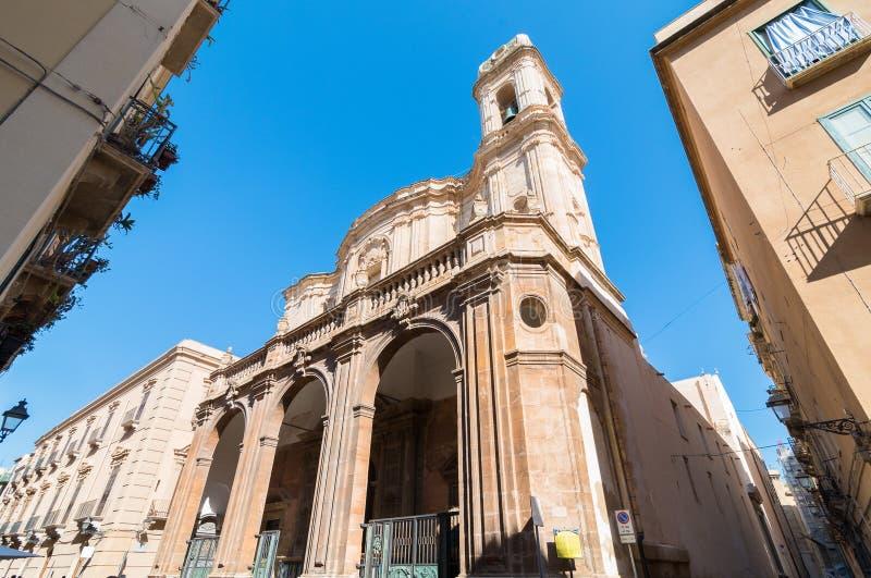 Cattedrale di San Lorenzo, Trapani, Sicilia, Italia immagine stock libera da diritti