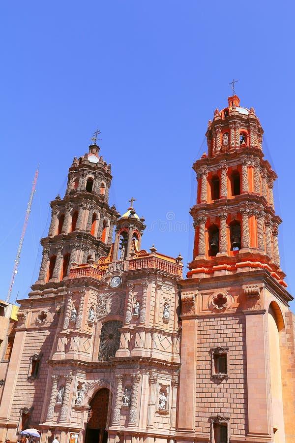 Cattedrale di San Luis potosi fotografia stock libera da diritti