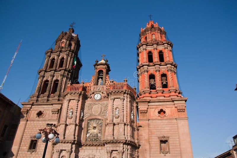 Cattedrale di San Luis potosi immagini stock