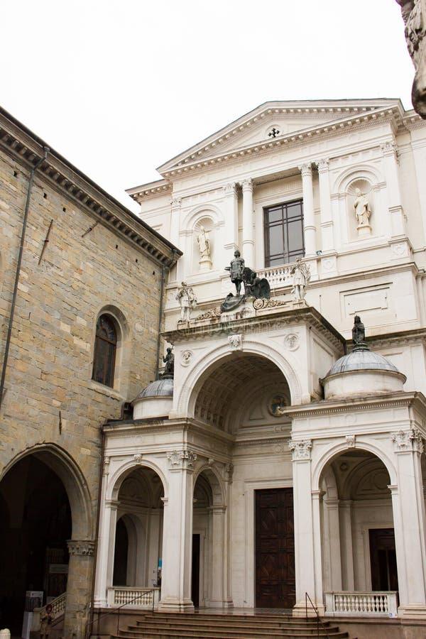 Cattedrale di Sant `亚历山德罗二贝加莫,意大利 免版税库存照片