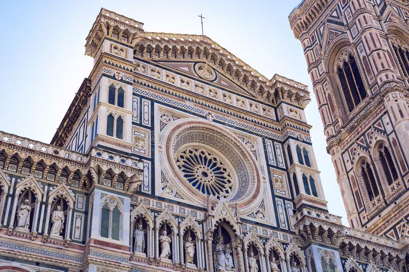 Cattedrale-Di Santa Maria del Fiore Cathedral van Heilige Mary stock afbeelding
