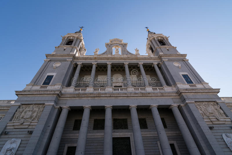 Cattedrale di Santa Maria la Real de la Almudena, Madrid fotografia stock libera da diritti
