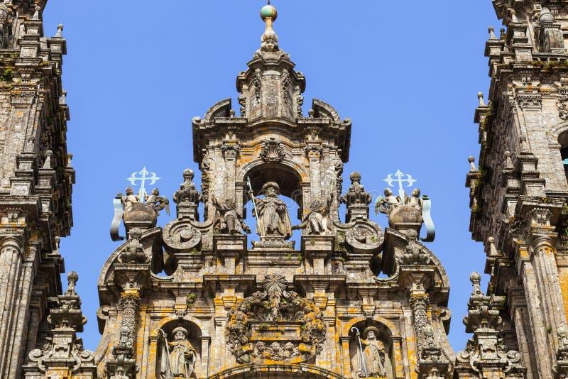 Cattedrale di Santiago di Compostela fotografie stock